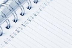 Kalendertagesordnung Lizenzfreies Stockbild