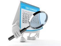 Kalendertecken som ser till och med förstoringsglaset stock illustrationer