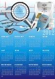 kalenderutrustningläkarundersökning Stock Illustrationer