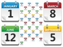 kalendervektor Arkivfoton