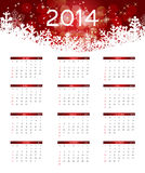 Kalendervektorillustration des neuen Jahres 2014 Stockfotografie