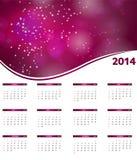 Kalendervektorillustration des neuen Jahres 2014 Stockfoto