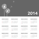 Kalendervektorillustration des neuen Jahres 2014 Stockbilder