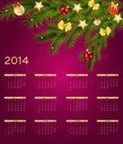 Kalendervektorillustration des neuen Jahres 2014 Stockbild