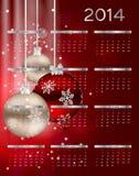 Kalendervektorillustration des neuen Jahres 2014 stock abbildung