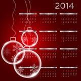 Kalendervektorillustration des neuen Jahres 2014 lizenzfreie abbildung