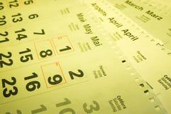 kalendrar Arkivbild