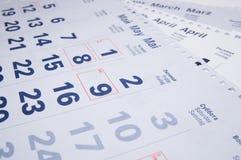 kalendrar Arkivbilder