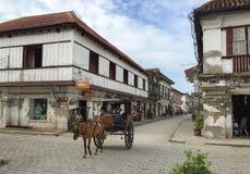Kalesa ( oder Pferd Carriage) in der historischen Stadt von Vigan lizenzfreie stockfotos