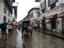 Kalesa Ride in the oldest City. Touring the oldest City in the Philippines Stock Photography