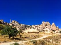 Kalesi de Uçhisar/castillo, Cappadocia, Turquía Imagen de archivo