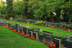Kalevankangas graveyard from Tampere, Finland Stock Photos
