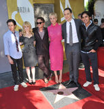 Kaley Cuoco & cast of The Big Bang Theory Royalty Free Stock Photography