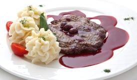 Kalfsvlees onder zoete saus royalty-vrije stock afbeelding