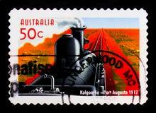Kalgoorlie – Port Augusta train, 150th Anniv. of Australian Railwaysserie, circa 2004 Stock Photo
