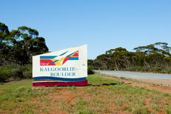 Kalgoorlie Boulder City Sign. Australia Royalty Free Stock Images