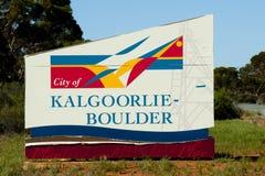 Kalgoorlie Boulder City Sign. Australia Stock Image