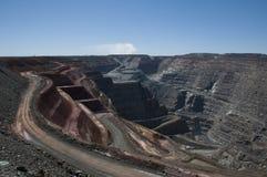Kalgoorlie Super Pit. View from ground level into the Kalgoorlie Super Pit gold mine Stock Photography
