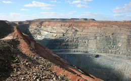 Kalgoorlie toppna Pit Mine, västra Australien Royaltyfria Foton
