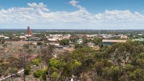 Kalgoorlie, Western Australia. KALGOORLIE, AUSTRALIA - JANUARY 27, 2018: Panorama of the city of Kalgoorlie on January 27, 2018 in Western Australia Royalty Free Stock Photos