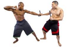Kali Escrima Arnis Martial Artists fotografia stock libera da diritti