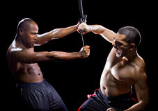Kali Escrima Fighters Sparring Royalty Free Stock Photos