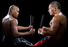 Kali Escrima Fighters Sparring Royalty Free Stock Image