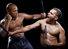 Kali Escrima Fighters Sparring Stock Images