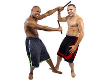 Kali Escrima Instructor and Student Stock Photo