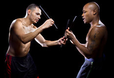 Kali Escrima Instructor and Student Stock Image