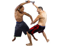 Kali Escrima Instructor and Student Stock Images