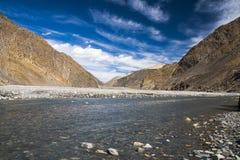 Kali Gandaki jest rzeką w Nepal i India, opuszczał dopływ Obraz Royalty Free