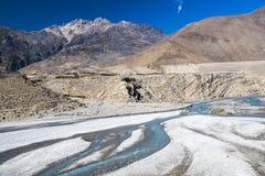 Kali Gandaki jest rzeką w Nepal i India, opuszczał dopływ Zdjęcie Stock