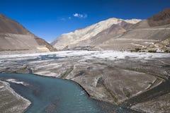 Kali Gandaki jest rzeką w Nepal i India, opuszczał dopływ Fotografia Royalty Free