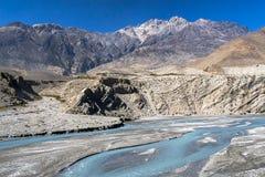 Kali Gandaki jest rzeką w Nepal i India, opuszczał dopływ Zdjęcia Stock