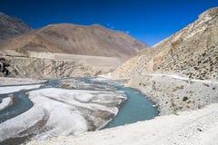 Kali Gandaki jest rzeką w Nepal i India, opuszczał dopływ Obraz Stock