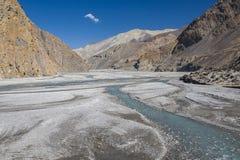 Kali Gandaki jest rzeką w Nepal i India, opuszczał dopływ Zdjęcia Royalty Free