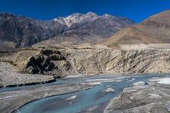Kali Gandaki jest rzeką w Nepal i India, opuszczał dopływ Zdjęcie Royalty Free