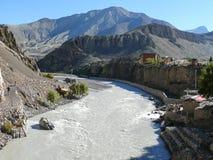 Kali Gandaki river in Kagbeni, Nepal Royalty Free Stock Photo