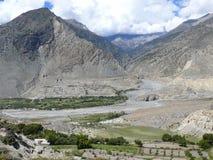 Kali Gandaki river near Marpha, Nepal Stock Photo