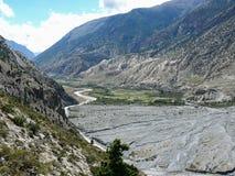 Kali Gandaki river near Marpha, Nepal Royalty Free Stock Photos