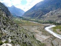 Kali Gandaki river near Marpha, Nepal Royalty Free Stock Images