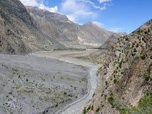 Kali Gandaki river near Marpha, Nepal Royalty Free Stock Image