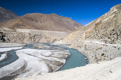 Kali Gandaki is a river in Nepal and India, a left tributary of Stock Image
