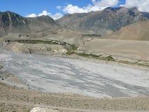 Kali Gandaki River Valley cerca de Jomson, Nepal Imágenes de archivo libres de regalías
