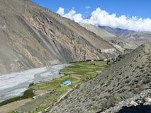 Kali Gandaki River Valley cerca de Kagbeni, Nepal Fotografía de archivo libre de regalías