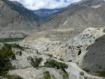 Kali Gandaki River Valley cerca de Marpha, Nepal Fotografía de archivo