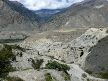 Kali Gandaki river valley near Marpha, Nepal Stock Photography