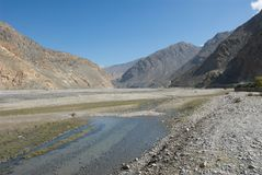 Kali Gandaki valley Royalty Free Stock Photography