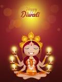 Kali goddess for Diwali Royalty Free Stock Image